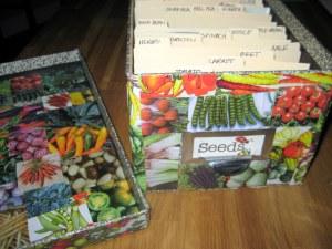 decoupage seed storage box