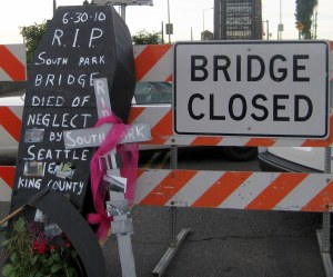 south park seattle bridge closing