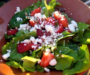 For the Love of Salads: Spinach Strawberry Salad