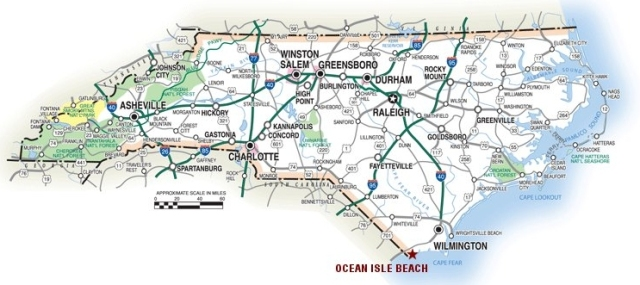 ocean isle beach nc map