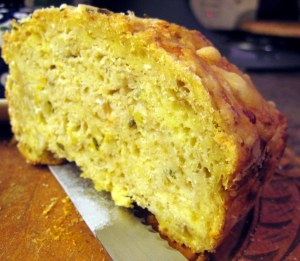 apple cheddar rosemary bread; grow and resist