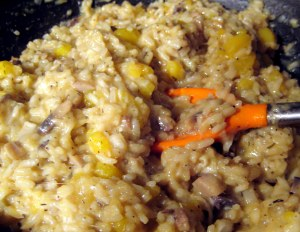 winter squash risotto/ grow and resist