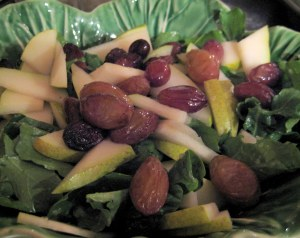 For the Love of Salads/ Arugula, Pear, Grape Shallot/ Grow and Resist