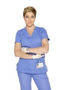 Edie Falco as Nurse Jackie grow and resist