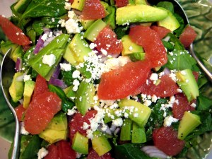 grow and resist grapefruit avocado spinach salad citrus