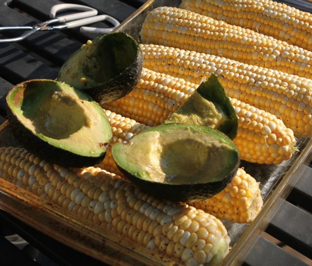 grow and resist for the love of salads avocado and corn
