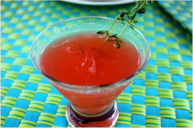 grow and resist herbal botanical cocktails for urban farm handbook challenge strawberry thyme margarita
