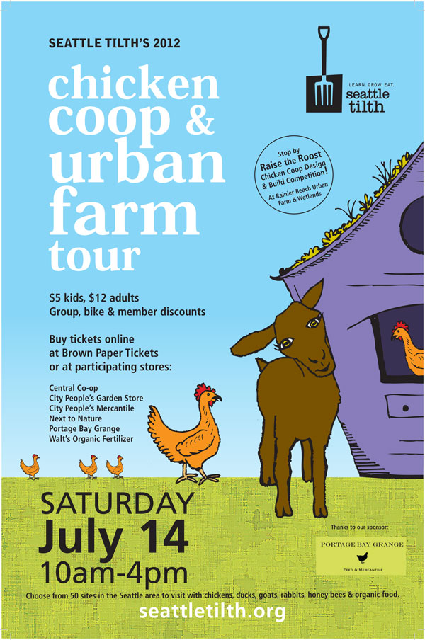 CoopTourPoster2012 grow and resist on tilth chicken coop tour