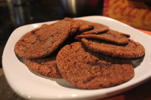 november cook the books dahlia bakery  molasses ginger cookies